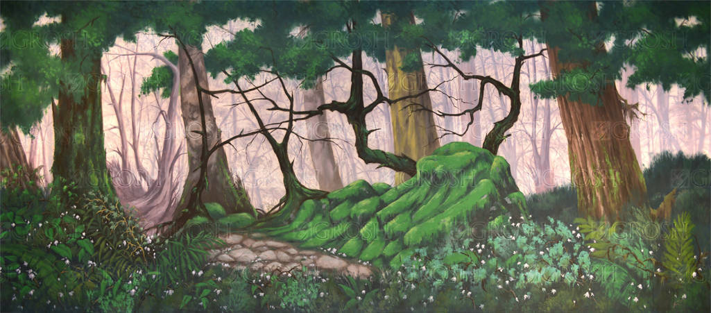 Forest Panel 4 backdrop for The Jungle Book, Tarzan, The Lion King, Into the Woods, foliage, Narnia, Lord of the Rings plays and productions
