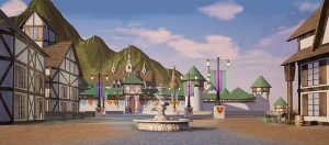 Spring Village used in productions of Frozen, Beauty and the Beast created by Grosh Backdrops
