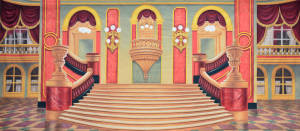 Grand Ballroom theatrical backdrop rental for Hamlet, Macbeth, Beauty and the Beast, Cinderella, Mame, Nutcracker, Sound of Music, Hello Dolly, Phantom of the Opera, Swan Lake plays and productions