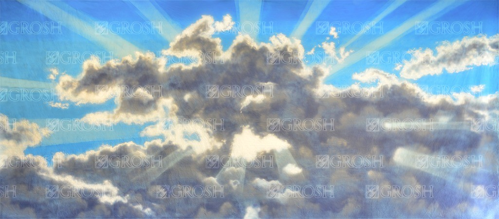 Heavenly Sky 2 backdrop for Big Fish, dance, dance sky, heaven, heavenly, sky, religious, Easter, church plays and productions