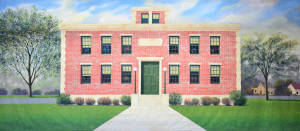 High School Exterior backdrop for Footloose, Bye Bye Birdie, Legally Blonde, High School Musical and other school themes