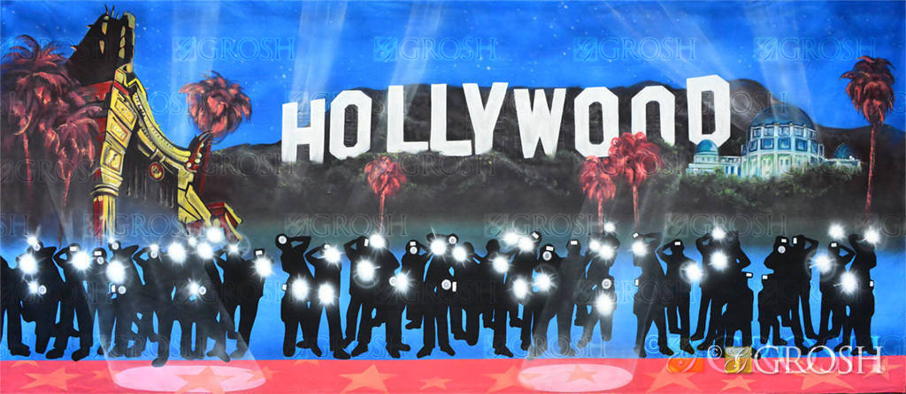 Hollywood Papparazzi Backdrop