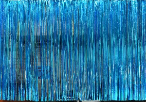 Ice Blue Rain Curtain for event planners, recitals, dance, plays, school productions and stages