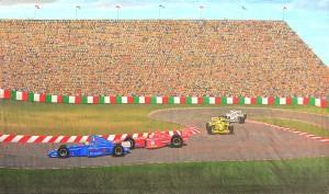 Race Car Track backdrop for NASCAR, Formula 1, Indy 500, race car, racing plays and productions
