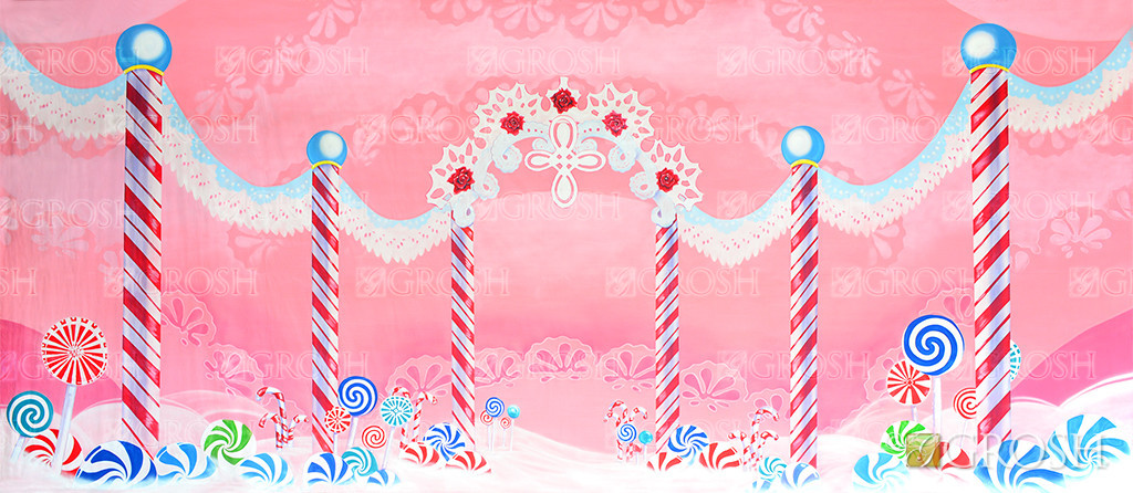 Lace Candyland Backdrop