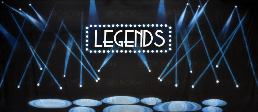 Legends backdrop for dance recitals and end of year plays and productions