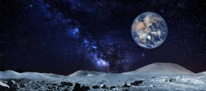 Lunar Landscape backdrop for space, galaxy, sci fi, Star Wars, Star Trek, alien, moon, Apollo 13 plays and productions