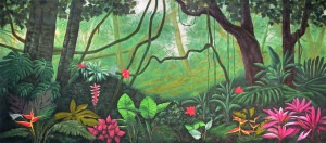 Lush Jungle backdrop for The Jungle Book, Tarzan, and The Lion King plays and productions