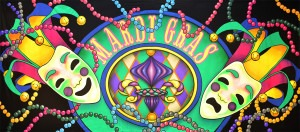 Mardi Gras Masks 2 backdrop for carnival, celebration, Fat Tuesday, Mardi Gras, masks, New Orleans, Bourbon Street, French Quarter plays and productions