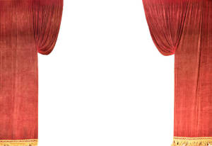 Maroon Velour Cascade legs set for event planners, school plays and theater productions