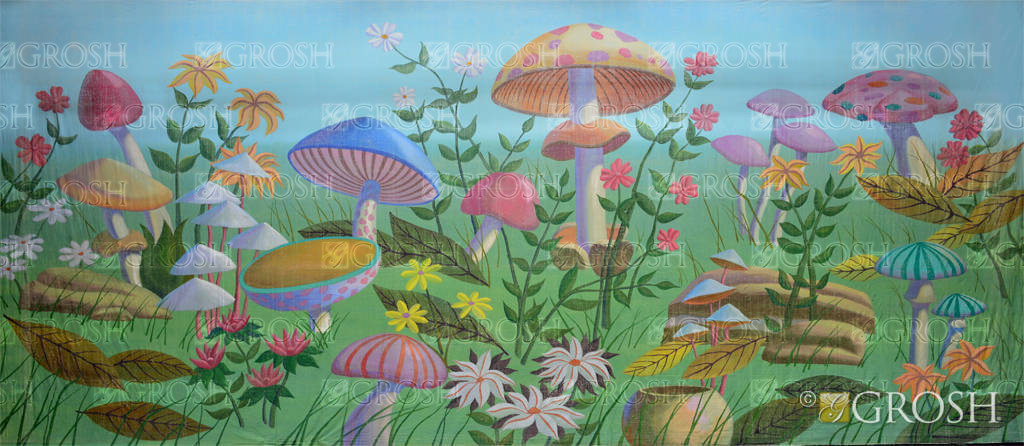 Giant Mushrooms Es1798 Alice In Wonderland Backdrops Grosh