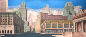 Grosh New York Street Backdrop is used in productions of Annie and Madagascar