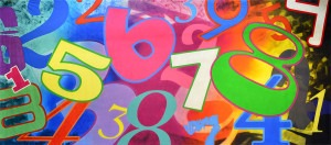 Numbers backdrop for dance, abstract, Alice in Wonderland, recital, montage, event planner, school play and theatre productions