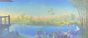 Oriental Landscape backdrop for Mulan, Madame Butterfly, Miss Saigon, The King and I, Flower Drum Song, garden, landscape