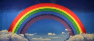 Over the Rainbow backdrop for Wizard of Oz, The Wiz, Wicked, preschool, child birthday, school plays or stage productions