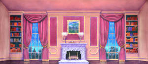 Grosh Backdrops Parlor Interior is used in many productions such as Scrooge, Nutcracker and Mame