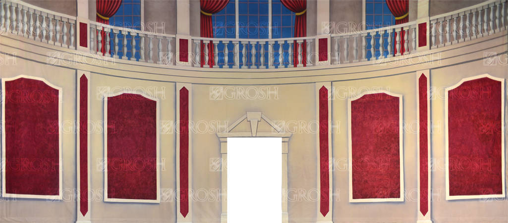 Parlor Interior with Cut Door backdrop for Annie, Once Upon A Mattress, Damn Yankees, Hello Dolly, My Fair Lady, Nutcracker, Cinderella, elegant, parlor plays and productions