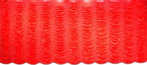 Red Satin Austrian Puff drapery for event planners, birthdays, plays, school productions