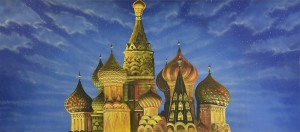 Russian Palace Exterior backdrop for Aladdin, Anastasia and Nutcracker plays and productions
