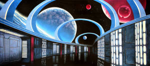 Sci Fi Interior backdrop for Star Trek, Star Wars, space, galaxy and space exploration plays and productions