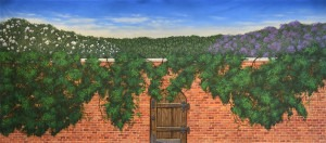 Secret Garden Exterior backdrop for Secret Garden, vineyard, wine, Romeo and Juliet, Italy, Italian and gardens plays and productions