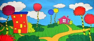 Seussical backdrop for Seussical the Musical, Dr. Seuss, Cat in the Hat plays and productions