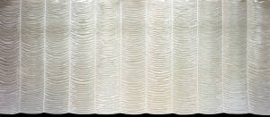 Silver Austrian Puff curtain for event planners, weddings, elegant events and fancy plays and productions