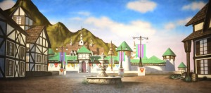 Spring Village backdrop for Beauty and the Beast, The Hunchback of Notre Dame, Romeo and Juliet, Kiss Me Kate, Miss Liberty, Threepenny Opera, European, Travel themes, Arendelle, Frozen plays and productions