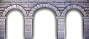 Stone Arch backdrop for Macbeth, Hamlet, Camelot, Cinderella, Snow White, Sound of Music, dungeon, castle interior, Once Upon a Mattress, Shrek plays and productions