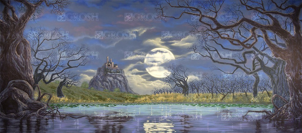 Swan Lake backdrop for Camelot, Cinderella, Snow White, Hamlet, Macbeth, Dracula, Swan Lake, Lord of the Rings plays and productions