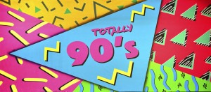 Totally 90s backdrop for retro, flashback, Nineties plays, parties and stage productions