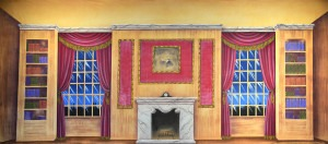 Victorian Parlor backdrop for Annie, Call Me Madam, Cinderella, Funny Girl, Mame, Music Man, My Fair Lady, Nutcracker, Scrooge, Sound of Music plays and productions