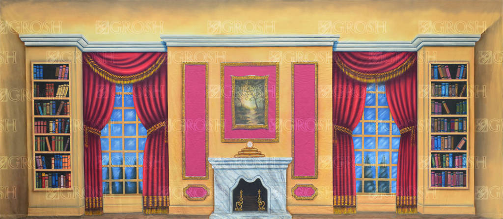 Victorian Parlor backdrop for Annie, Nutcracker, Cinderella, Frozen, Mary Poppins and Beauty and the Beast plays