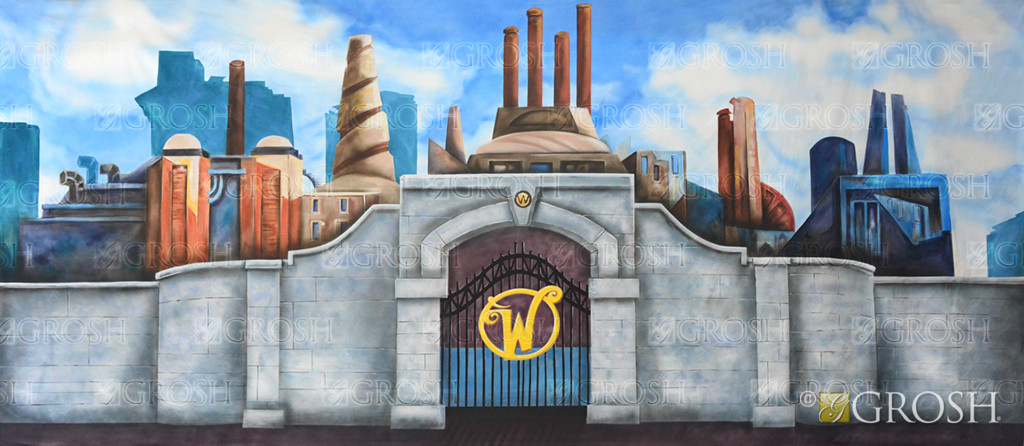 Grosh Willy Wonka Chocolate Factory Backdrop