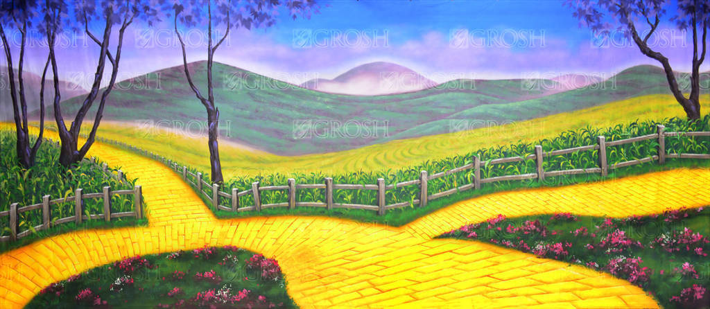 yellow brick road backdrop grosh backdrops