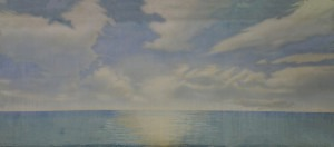 Horizon backdrop for South Pacific, The Boyfriend, The Little Mermaid, Anything Goes, beach, ocean, plays and productions