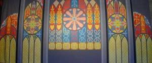 Church Interior Stained Glass Backdrop for the Pippin Play Also used for: Romeo and Juliet. Shrek. Tom Sawyer