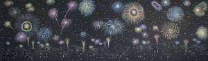 Fireworks over the City Backdrop