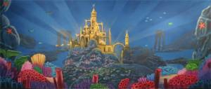Triton's Castle Under The Sea backdrop for Little Mermaid