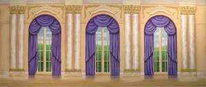 Beautiful Palace Interior stage backdrop for Annie school play