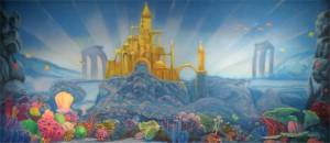 Little Mermaid Underwater Castle backdrop for theaters