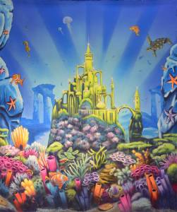 Beautiful undersea castle used for Lost City of Atlantis, Little Mermaid, Finding Nemo