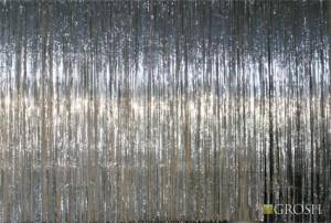 Silver Rain Curtain drapery for school plays, event planner and theatre productions