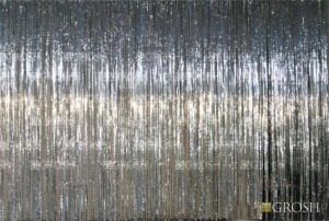 Silver Rain Curtain drapery for recitals, dance, event planners, school plays and stage rental productions