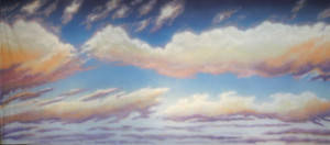 Sky with Colorful Clouds Backdrop