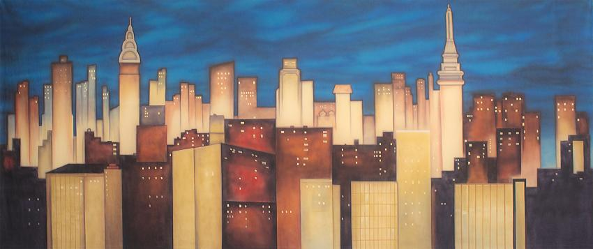 Stylized New York Skyline 1 Backdrop