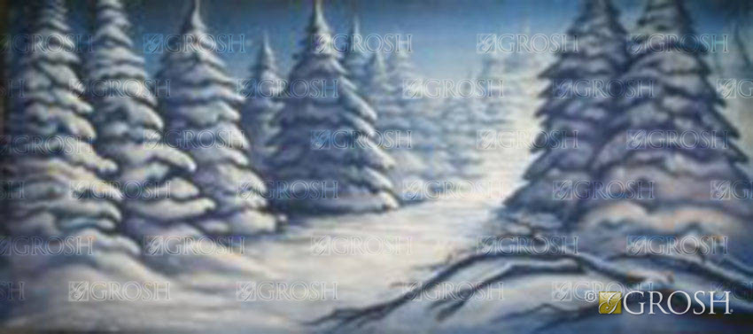 Stylized Night Snow 1 Backdrop