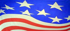 Stylized Patriotic Flag 1 Backdrop