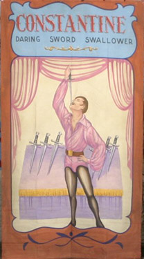 Sword Swallower Circus Banner Backdrop