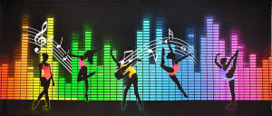 Turn Up the Music 1 Backdrop